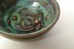 GREEN BOWL 2 , 2017, stoneware clay, 6 in.