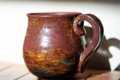 MAROON MUG , 2017, stoneware clay, 5 in.