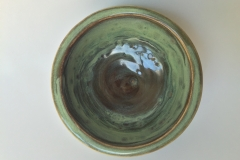 GREEN BOWL 1 , 2017, stoneware clay, 6 in.