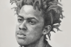 JEFFERY, 2017, graphite, 20 by 24in.