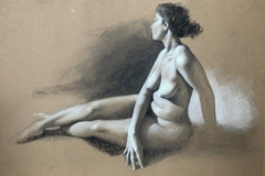 FIGURE, 2017, charcoal, 24 by 20in.