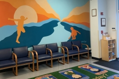 BALTIMORE COUNTY CHILD ADVOCACY CENTER, 2017, wall paint, 16 by 9ft.