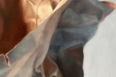 PAPER BAG , 2018, oil paint, 12 by 18in.